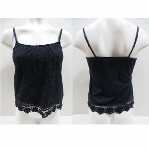 Hollister top XS sleeveless floral lace overlay